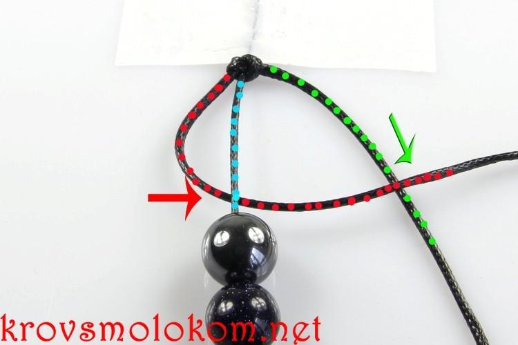 Как сделать браслет Шамбала своими руками из натуральных бусин. Фото и Видео. Техника и Схема