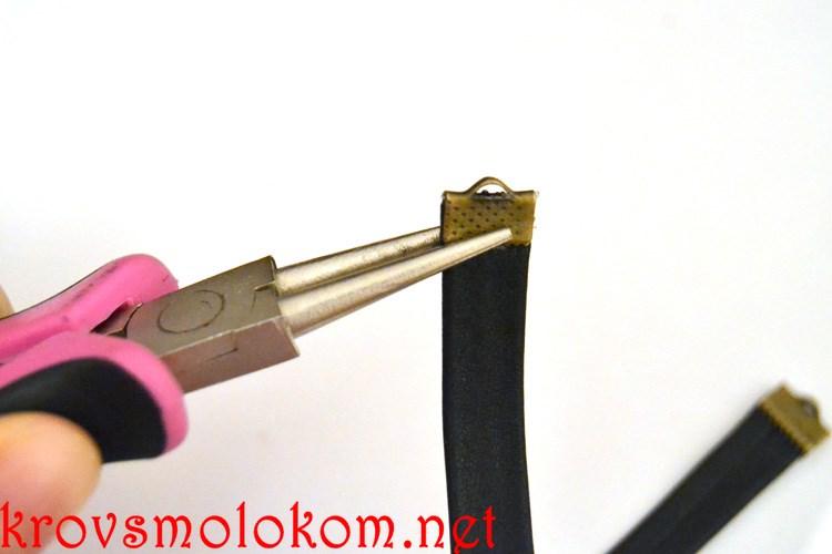 Как сделать чокер-колье (ошейник) на шею своими руками из кожи. Фото. Мастер класс.