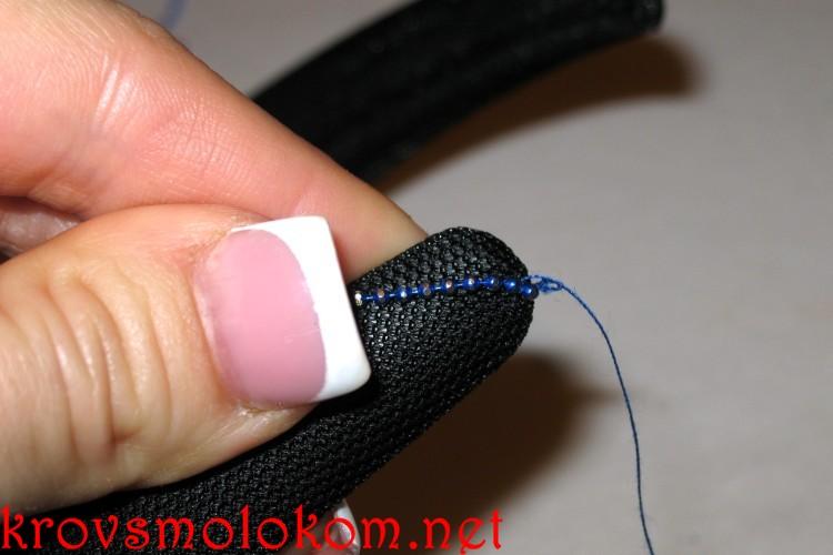 Как сделать праздничный ободок для волос с бусинами своими руками. Мастер Класс. Фото
