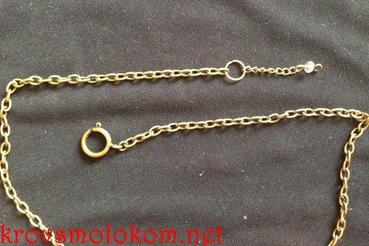 Оригинальное (необычное) ожерелье под (на) воротник рубашки своими руками. Мастер класс. Фото.