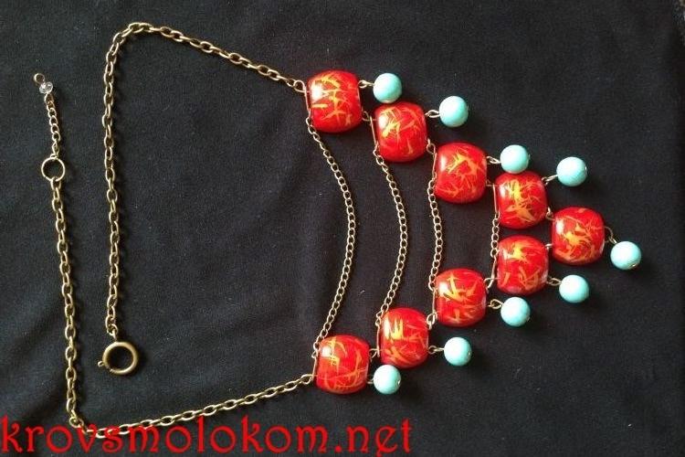 Оригинальное ожерелье под рубашку своими руками. Мастер класс. Фото.