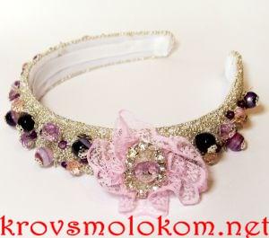 Как украсить (сделать) розовый ободок в стиле Дольче Габбана (Dolce&Gabbana) своими руками. Фото. Мастер класс (МК)
