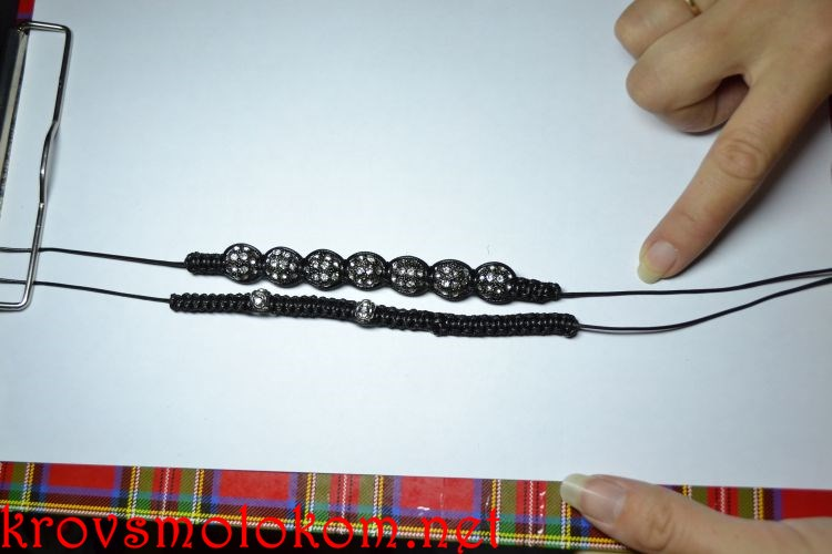 Как сделать браслет Шамбала три ряда своими руками. Мастер Класс. Фото