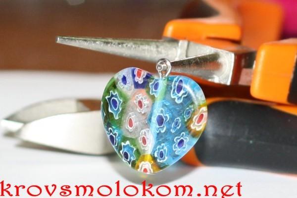 Серьги сердца  Мильфлеры. Как просто и быстро сделать красивые сережки своими руками. Мастер Класс. Фото.