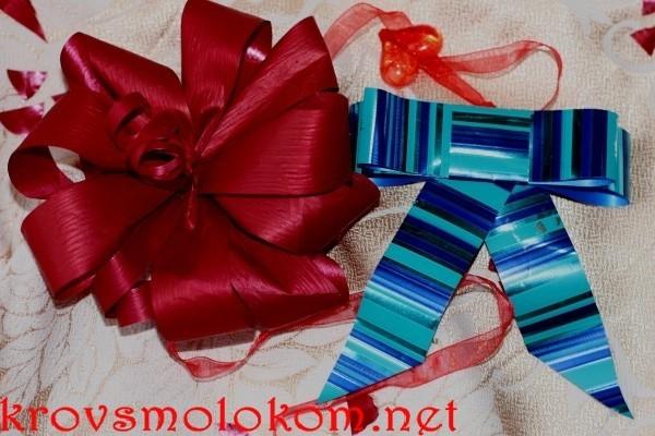 как сделать подарочный бант