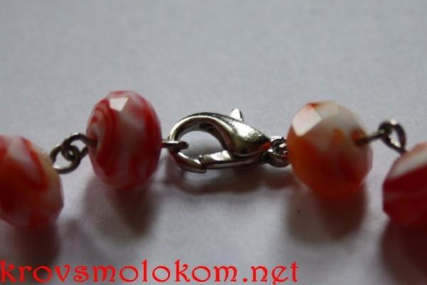браслет из хрустальных бусин handmade