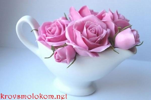 Цветы из холодного фарфора Ольги Шлапак