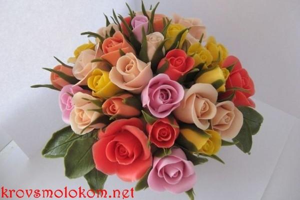 розы из холодного фарфора Ольги Шлапак