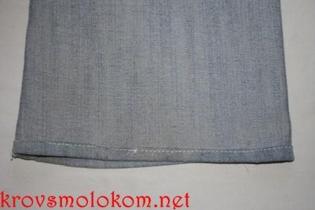подрубить джинсы мастер класс