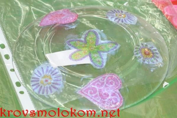 Декорирование тарелки кракелюр