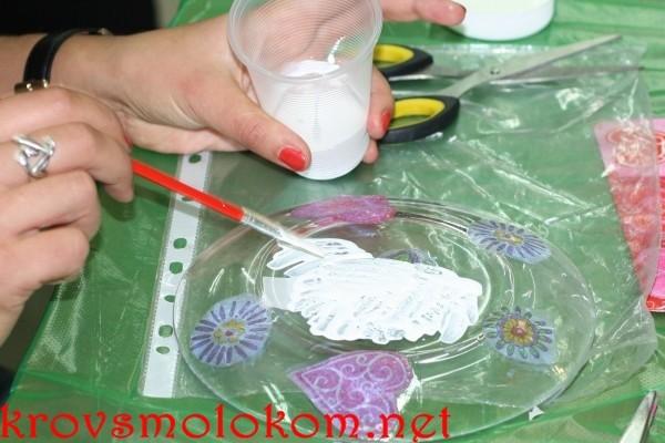 Декорирование посуды кракелюр