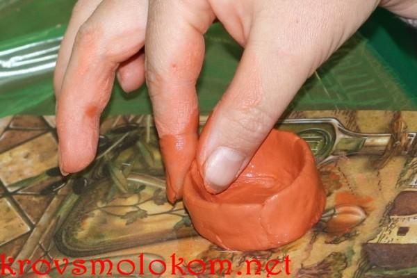 Лепка изделий из самозатвердевающей глины