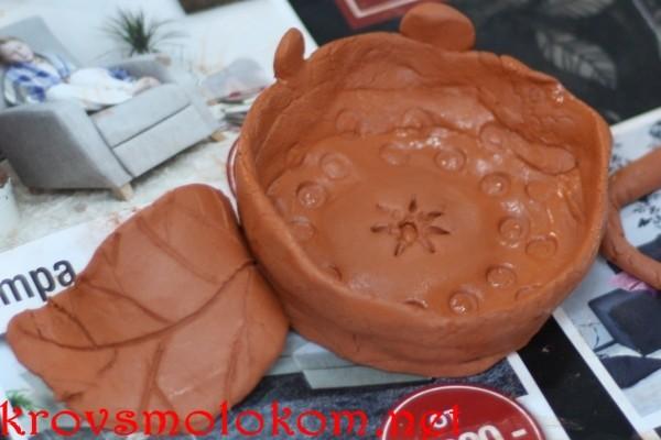 Лепка изделий из самозатвердевающей глины Мастер Класс