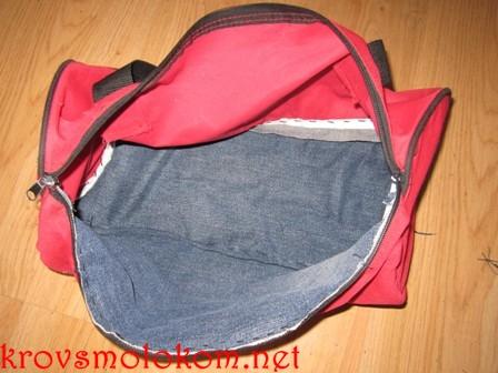 отремонтированная велосипедная сумка