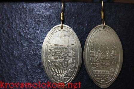серьги монетки мастер класс