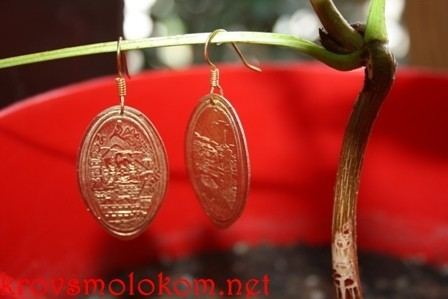 серьги монеты