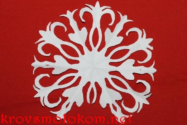 красивые шестигранные снежинки