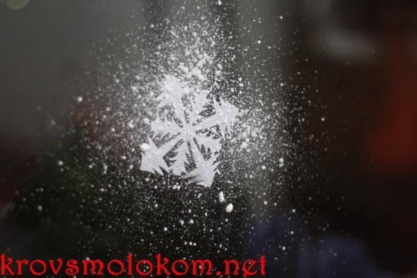 новогоднее украшение стекла