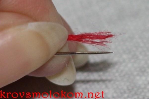 Как вышивать шов назад иголку