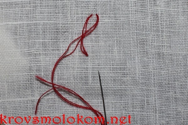 Шов назад иголка вышивка